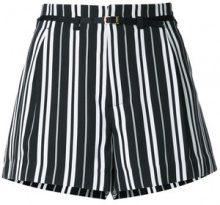 Guild Prime - striped shorts - women - Polyester - 34 - Nero