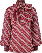Gucci - Blusa a righe diagonali - women - Metallic Fibre/Viscose/Polyamide - XS, S, M, L - MULTICOLOUR