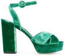 Dolce & Gabbana - Sandali con plateau - women - Velvet/Leather - 35, 35.5, 38.5 - Verde