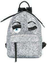 Chiara Ferragni - Flirting glitter backpack - women - Leather/Polyester - OS - METALLIC