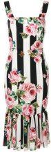 Dolce & Gabbana - Vestito con stampa a rose - women - Silk/Spandex/Elastane - 46 - MULTICOLOUR