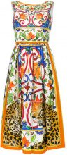 Dolce & Gabbana - Vestito svasato - women - Cotton - 40 - MULTICOLOUR