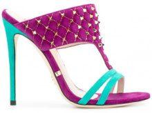 Gianni Renzi - Sandali color-block - women - Suede/Leather - 36, 36.5, 37, 37.5, 38, 38.5, 39, 40 - PINK & PURPLE