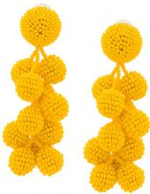 Sachin & Babi - Coconuts earrings - women - glass - One Size - YELLOW & ORANGE