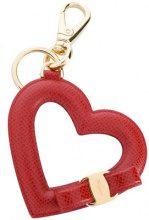 Salvatore Ferragamo - Vara bow heart keyring - women - Leather - OS - RED