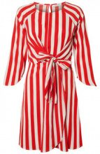 PIECES Striped Dress Women Red