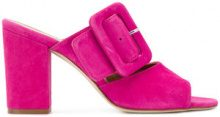 Paris Texas - Mules con fibbia - women - Calf Leather/Suede/Leather - 36, 36.5, 37, 38, 38.5, 39, 40, 35 - PINK & PURPLE