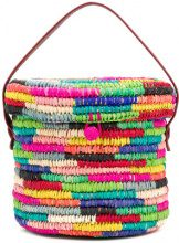 Sensi Studio - Borsa a secchiello a righe - women - Straw - OS - MULTICOLOUR