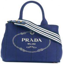 Prada - Borsa tote con logo - women - Cotton - OS - BLUE