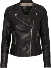 VERO MODA Short Leather-look Jacket Women Black