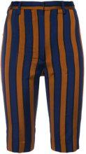 Ter Et Bantine - Pantaloni corti a righe - women - Acetate/Cotone/Polyamide - 38, 40, 42, 44 - Blu