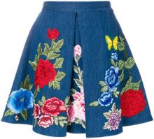 Philipp Plein - Calista Berley skirt - women - Cotton/Polyester/Spandex/Elastane - S, M - BLUE
