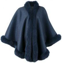 Liska - Mantella di pelliccia - women - Fox Fur/Cashmere - OS - BLUE