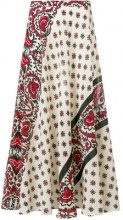 Red Valentino - Gonna con stampa paisley - women - Silk/Cotton - 42, 44, 40, 38, 46 - NUDE & NEUTRALS