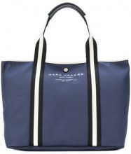 Marc Jacobs - Borsa tote con logo - women - Cotton/Polyurethane/Leather - OS - BLUE