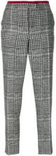 Fendi - Pantaloni in pied de poule - women - Wool/Silk - 42 - BLACK