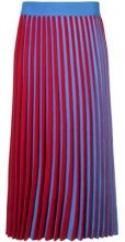 Derek Lam - Pleated Stripe Skirt - women - Cotton/Polyamide/Polyester/Viscose - XS, S, M - RED