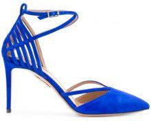 Aquazzura - cutout pointed pumps - women - Leather/Suede - 37, 38, 38.5, 40, 37.5, 39, 39.5 - BLUE