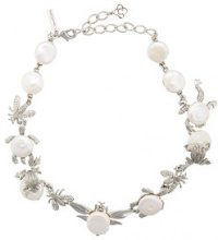 Oscar de la Renta - Critters necklace - women - Crystal/Pearls/Brass/Pewter - OS - GREY