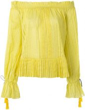 Etro - Blusa con spalle scoperte - women - Cotone/Silk/Acetate/Polyamide - 42 - YELLOW & ORANGE