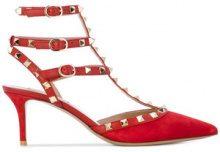 Valentino - Pumps con decorazioni Rockstud - women - Leather/Suede - 35, 36, 38, 39 - RED