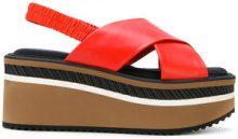 Clergerie - Sandali con suola rialzata - women - Leather/Polyamide/rubber - 40, 39.5, 36.5 - Rosso