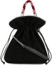 Les Petits Joueurs - Borsa tote - women - Leather/Suede/metal - One Size - Nero