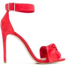 Alexander McQueen - bow detail sandals - women - Leather - 36, 37, 37.5, 38, 38.5, 39, 41, 40 - RED