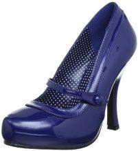 Pleaser EU-CUTIEPIE-02 CUTIE02/NBPT, Scarpe col tacco donna, Blu (Blau (Navy blue pat)), 36