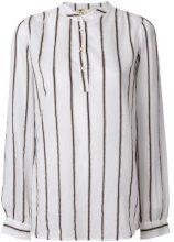 - Local - Camicia 'Siria' a righe - women - Linen/Flax/viscose/Cotone/Silk - XL - Bianco