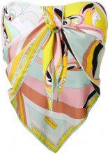 Emilio Pucci - Top bikini stampato - women - Polyamide/Spandex/Elastane/Silk - 42, 38, 40 - MULTICOLOUR