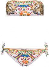 Dolce & Gabbana - Bikini a fascia con stampa leopardo - women - Polyamide/Spandex/Elastane - 1 - MULTICOLOUR