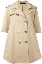 Tagliatore - double breasted coat - women - Cotton/Spandex/Elastane/Cupro - 40, 42 - NUDE & NEUTRALS