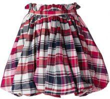 Alexander McQueen - checked flared skirt - women - Cotone/Silk - 40, 42 - Rosa & viola
