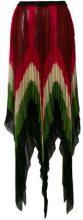 Gucci - Gonna stampata a pieghe - women - Silk - 40 - Multicolore