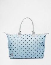 Mi-Pac - Borsa week-end a pois in denim chambray