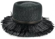 Ermanno Scervino - Cappello - women - Straw/Viscose - L - BLACK