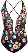 Missoni Mare - floral crochet swimsuit - women - Nylon/Rayon - 40 - BLACK