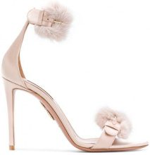 Aquazzura - Sandali 'Sinatra' - women - Leather/Satin - 37, 37.5, 39.5, 36.5, 39, 40 - PINK & PURPLE