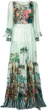 Black Coral - jungle print maxi dress - women - Silk - 40, 38, 42 - GREEN