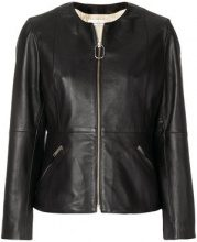 Golden Goose Deluxe Brand - zipped biker jacket - women - Sheepskin/Viscose/Cotton/Polyester - XS, S, M, L - BLACK