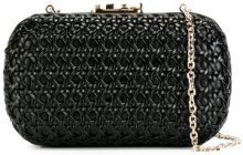 Corto Moltedo - Susan C Star clutch bag - women - Calf Leather/Leather/Silk Satin - One Size - BLACK