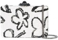 Oscar de la Renta - Rogan box clutch - women - Silk/Acrylic - OS - WHITE