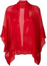 Alberta Ferretti - Giacca leggera trasparente - women - Silk - 38, 40 - RED