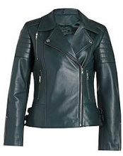 Amelia Leather Biker Jacket