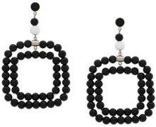 - Marni - Orecchini pendenti con perline - women - metal/Resin - Taglia Unica - Nero