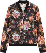 FIND Floral Zip  Felpa Donna, Multicolore (Multicoloured), 42 (Taglia Produttore: Small)