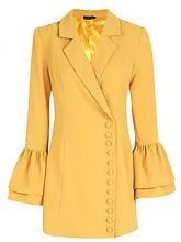 Boutique Taylor Button Through Tuxedo Dress