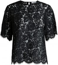 PIECES Short Sleeved Lace Blouse Women Black