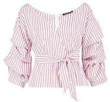 Joy Ruffle Wrap Shirt